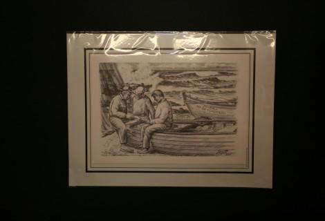 180240650_39x30_Desenho a Carvão Pescadores Jogando Cartas
