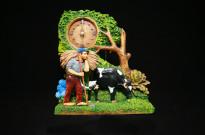30030230 Relógio resina vaca grande pêndulo
