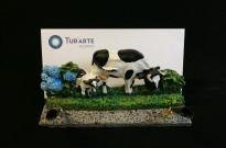 50150318 Suporte caneta vaca grande com vitelo